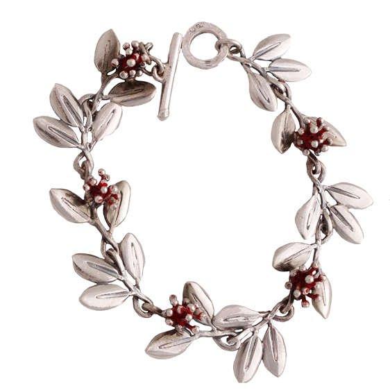 Silver Charm Bracelets of NZ Flowers