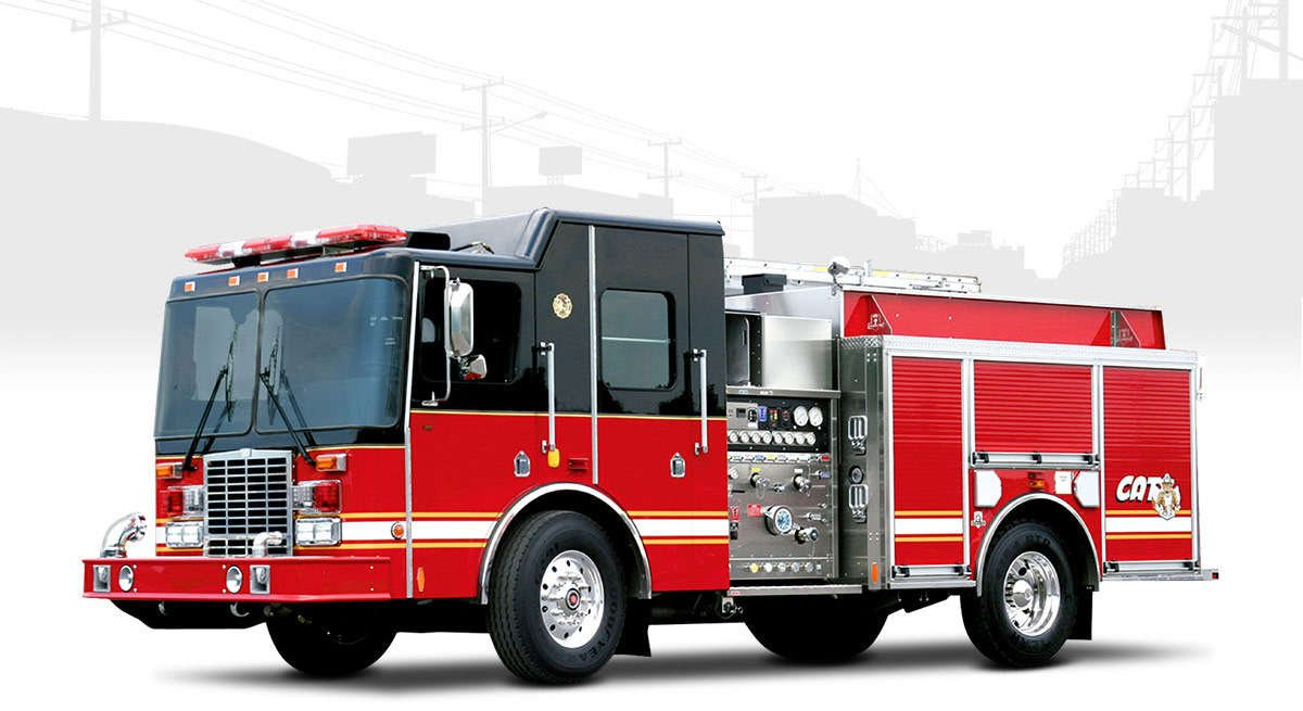 city attack fire truck