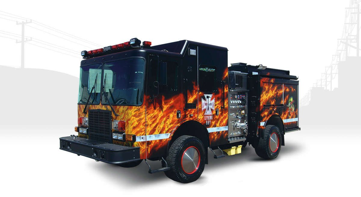 extreme rapid attack fire truck