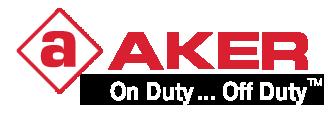 aker leather logo
