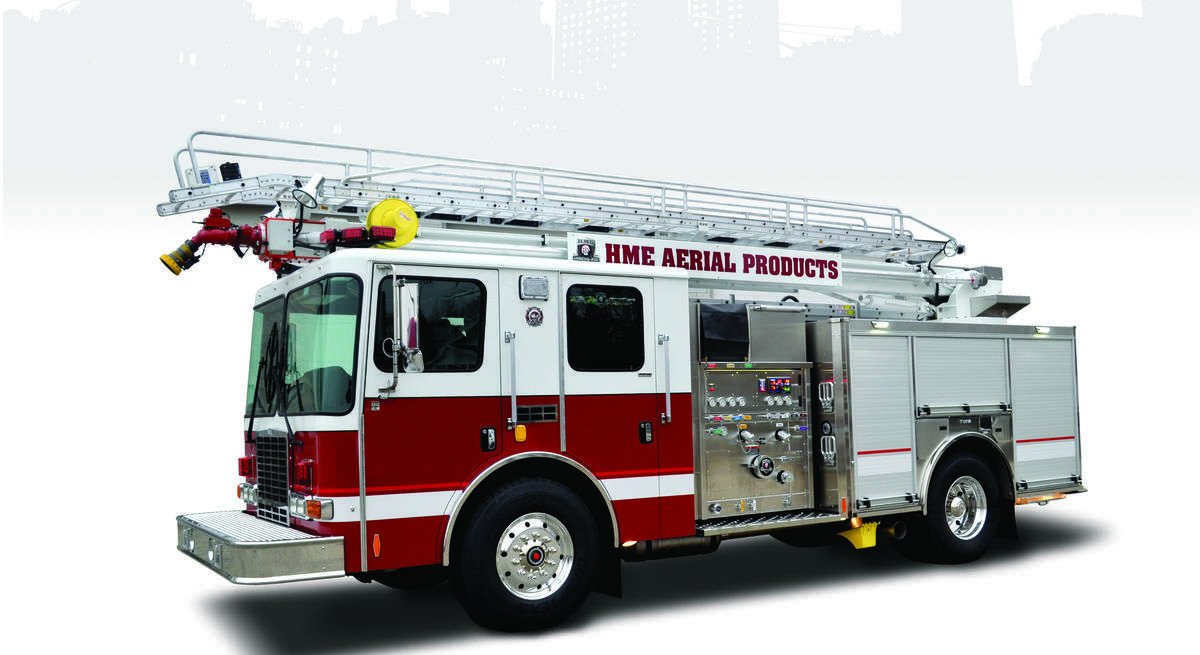 hme aerial and quint fire trucks