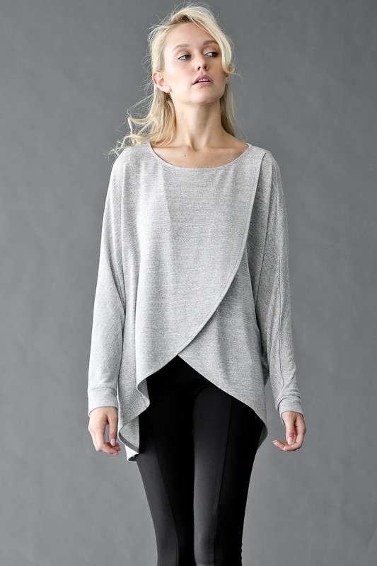 Drape Front Maternity Sweater