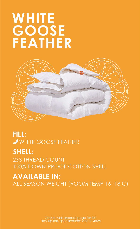 white goose feather comforter