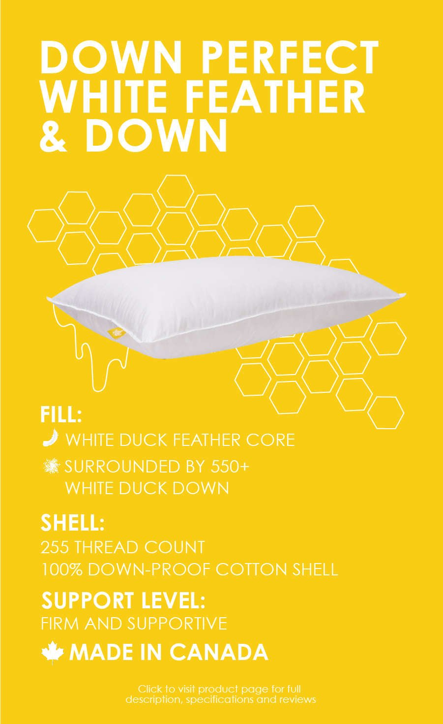 white duck down and feather pillow