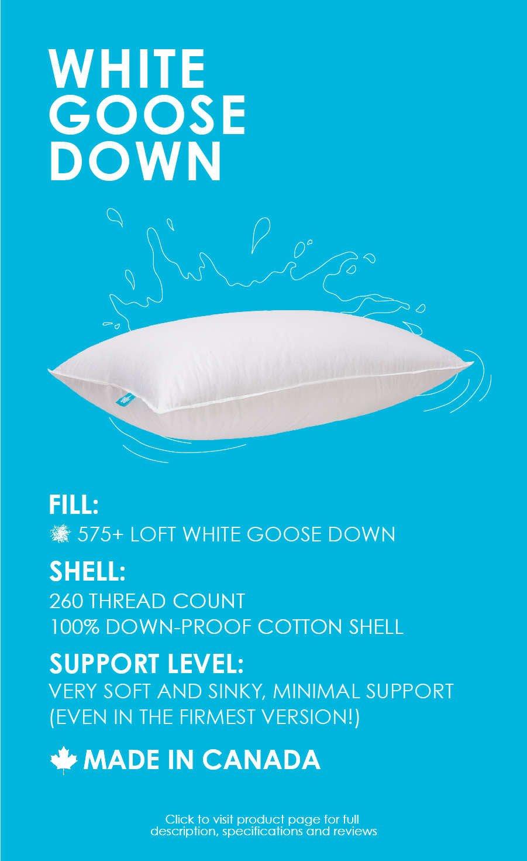 575 loft white goose down pillow