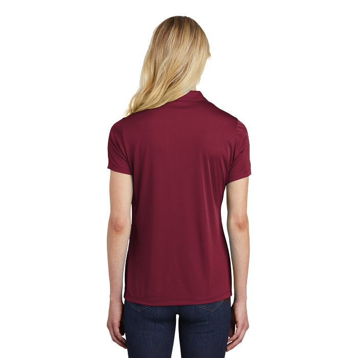 LST550 ladies competitor polo Maroon  back