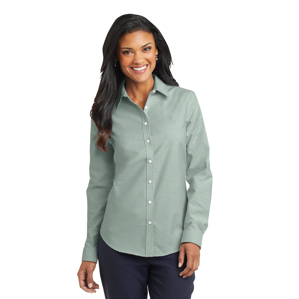 L658 long sleeve women's oxford shirt