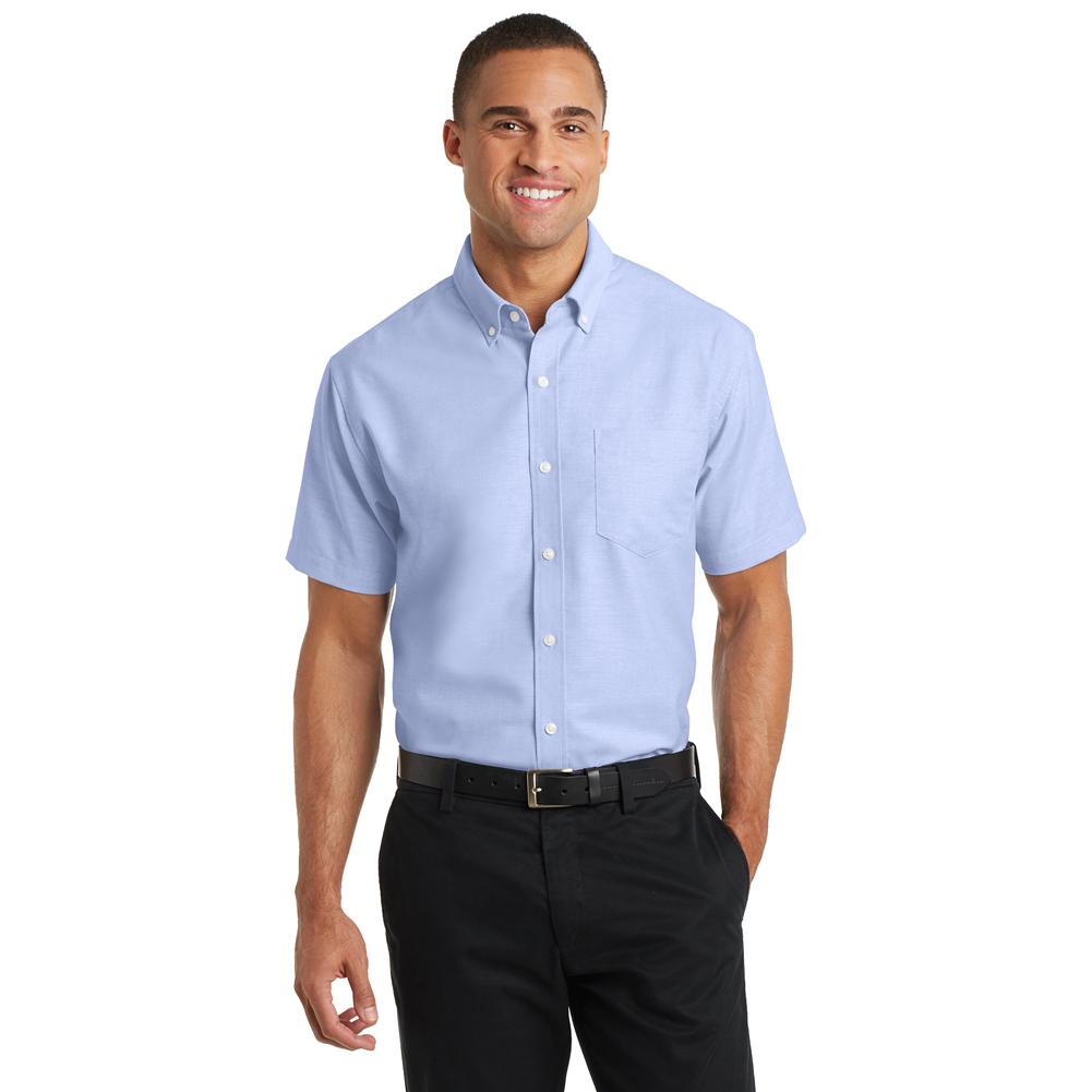 S659 Men's oxford short sleeve shirt