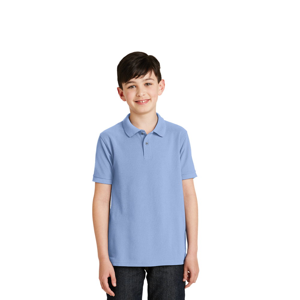 y500 silk touch youth polo