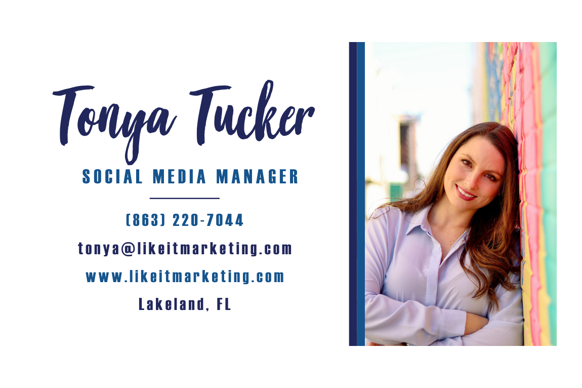 Tonya Tucker Social Media  Manager at Like It Marketing