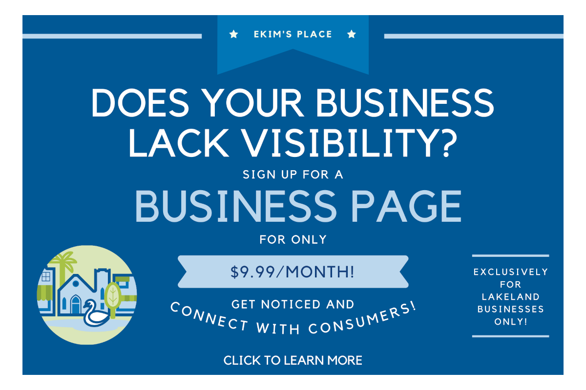 Are You a Small Business Wanting more Visibility? Ekim's Place Business Page is How You do it!