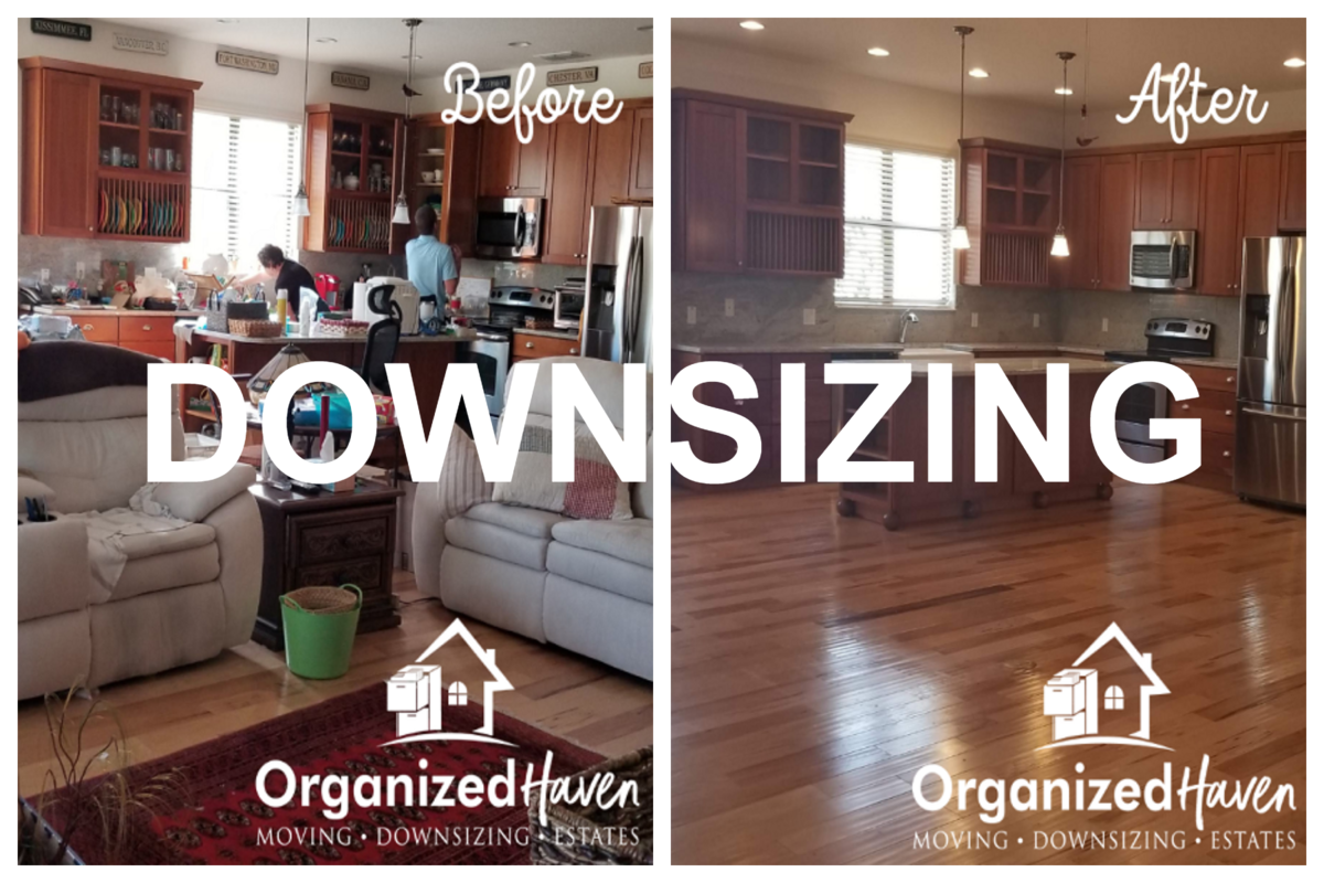 Organized Haven Downsizing Before and After Images of Past Services Lakeland Florida