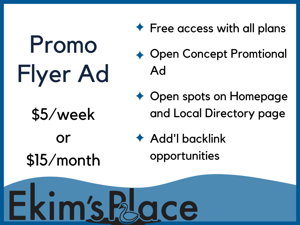 Promo Flyer Ad - Sales, Promotions, Events, Shows, Branding and more!