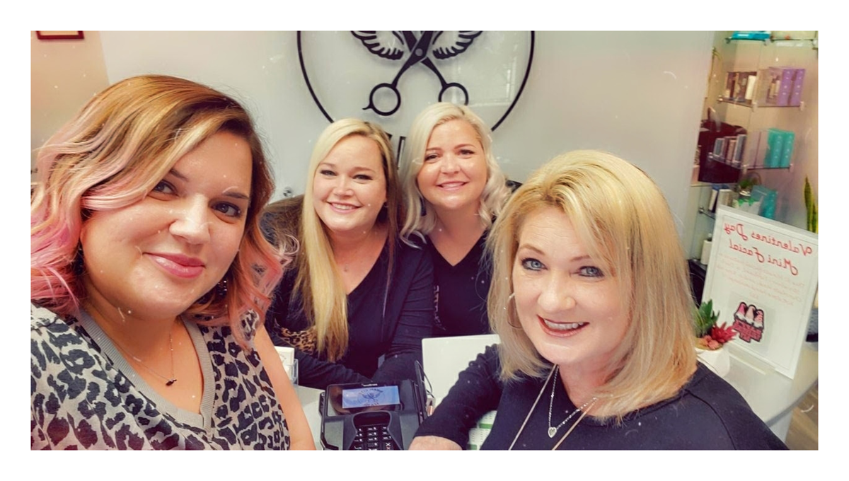 Swan City Hair  Employees Smile for Camera