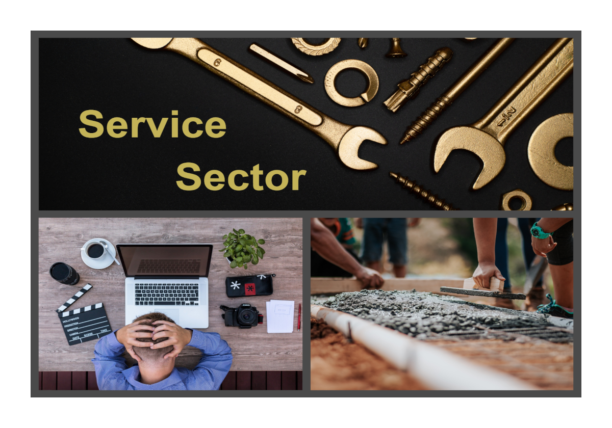 Service Sector From Auto Mechanics, Marketing,  Laying Cement and more.