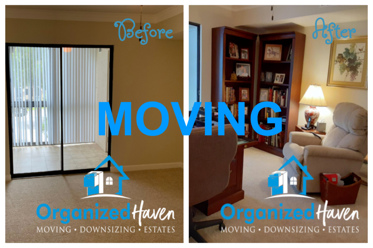 Organized Haven Moving Before and After Pictures of Past Services Lakeland Florida