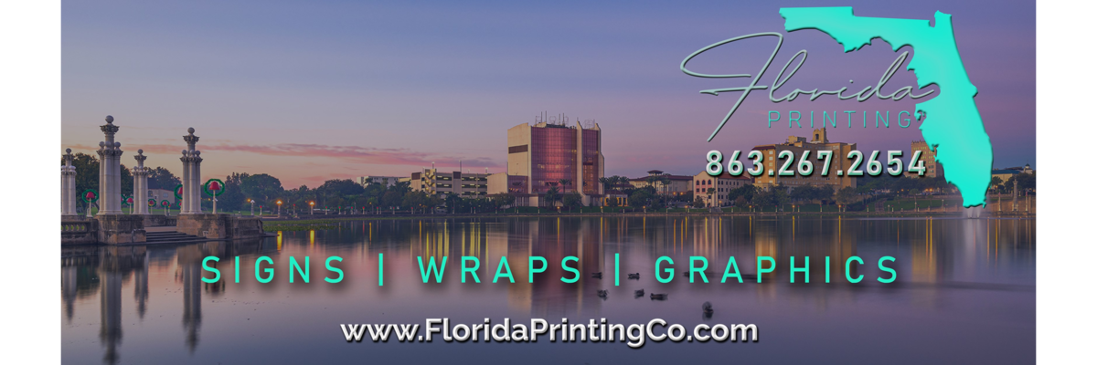 Florida Printing Company Sign, Wraps, Graphics