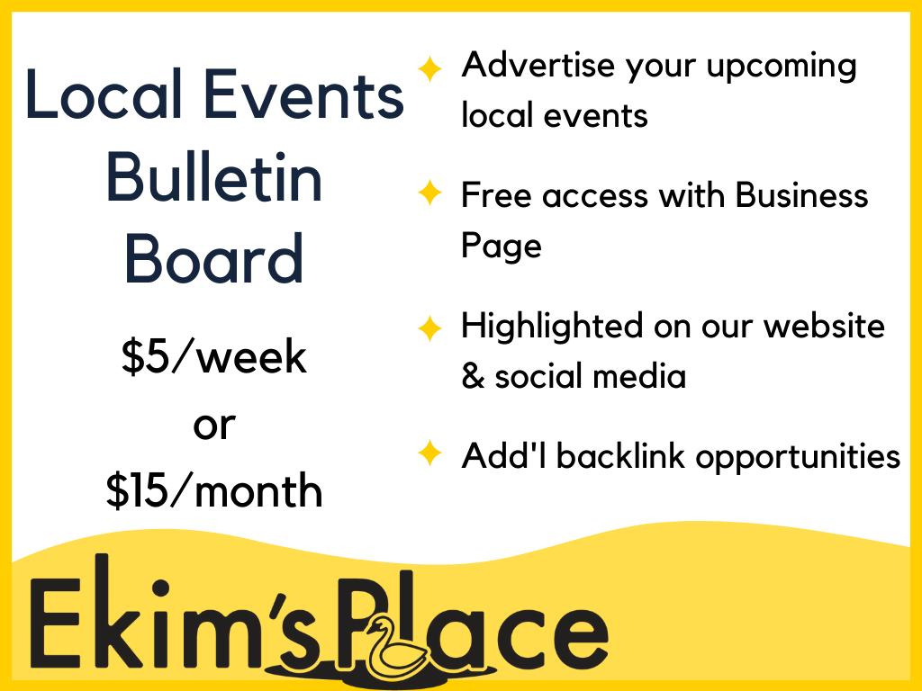 Local Events Bulletin Board Ad
