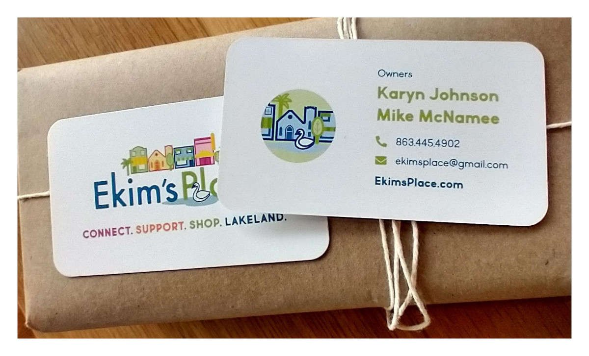 Ekim's Place Business Cards Fresh Off the Press