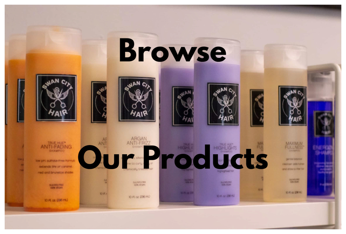 Browse Swan City Hair's Unique Hair and Nail Care Products