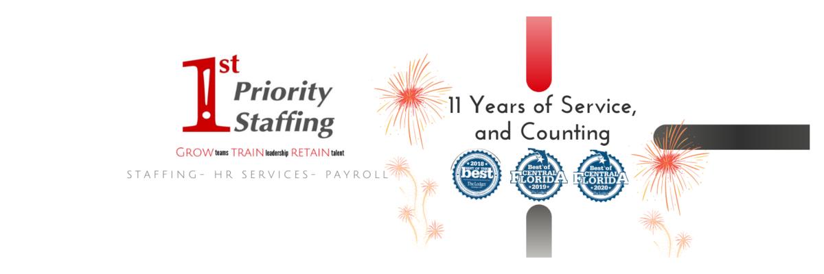 1st Priority Staffing  -  Growing Teams, Train Leadership, Retain Talent