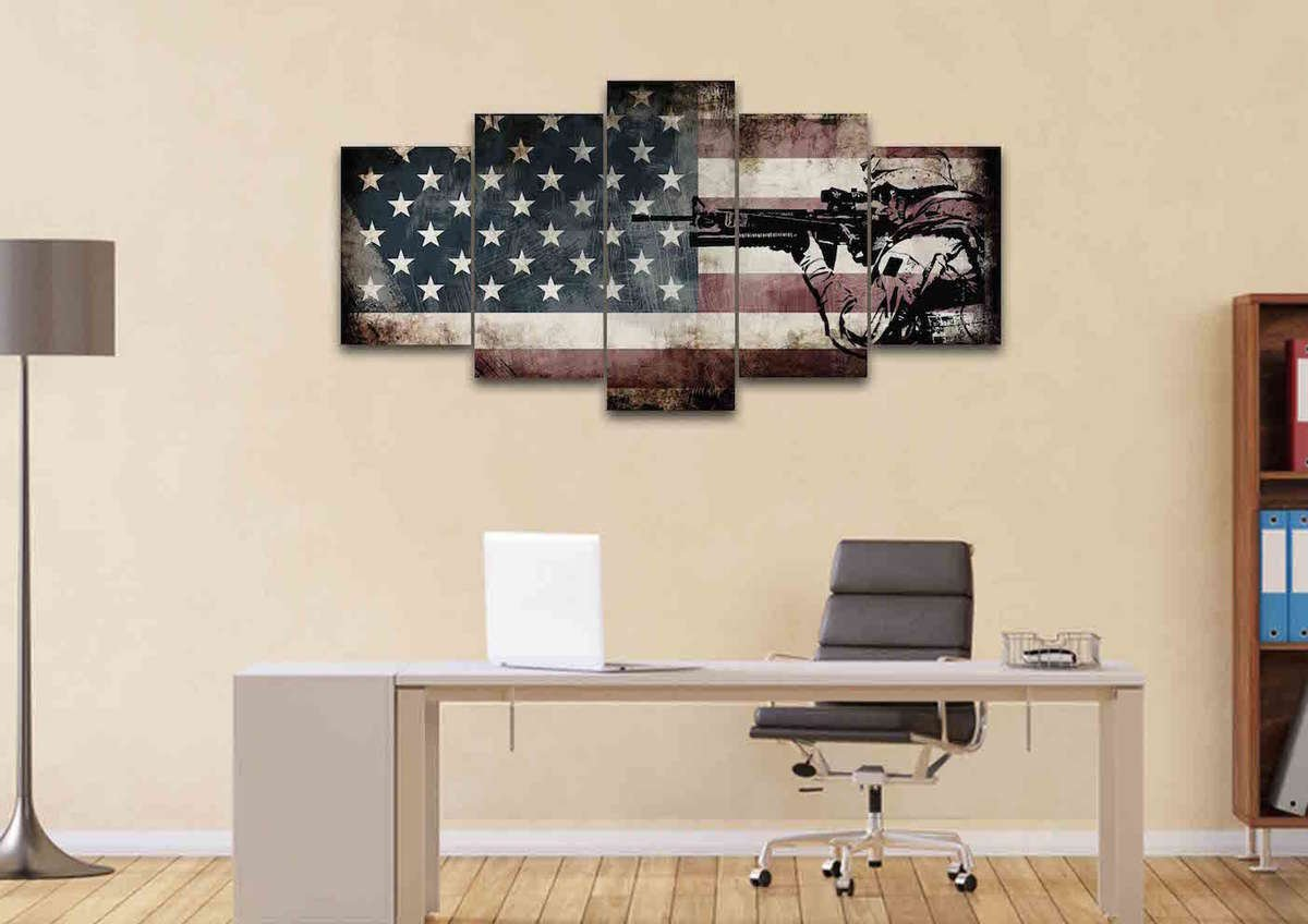 Home Office Wall Art. The Story Behind This Art Home Office Wall U ...