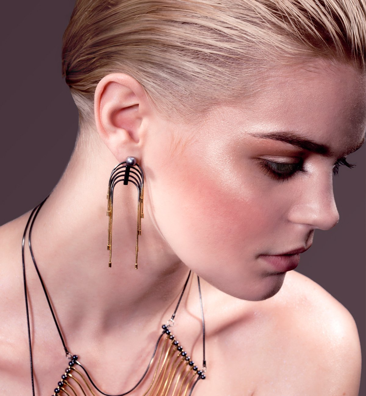 Black Gold Ivy Pave Ring,  Dada Arrigoni Jewelry
