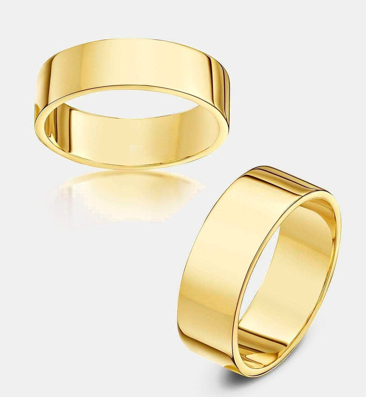 9kt Yellow Gold Heavy Flat Wedding Ring