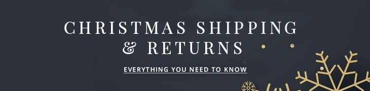 Christmas Shipping and Returns