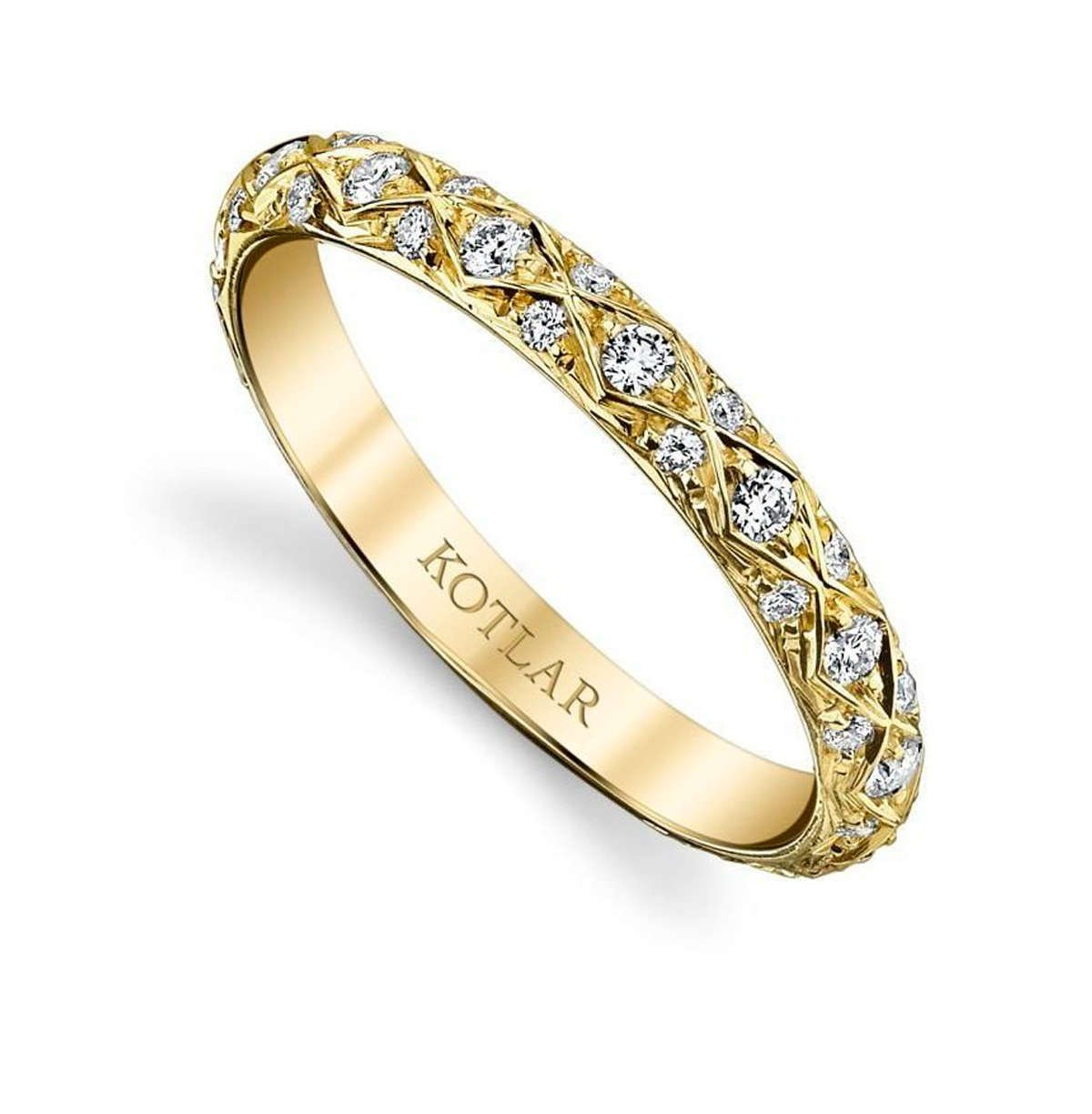 Criss Cross Artisan Pave Band