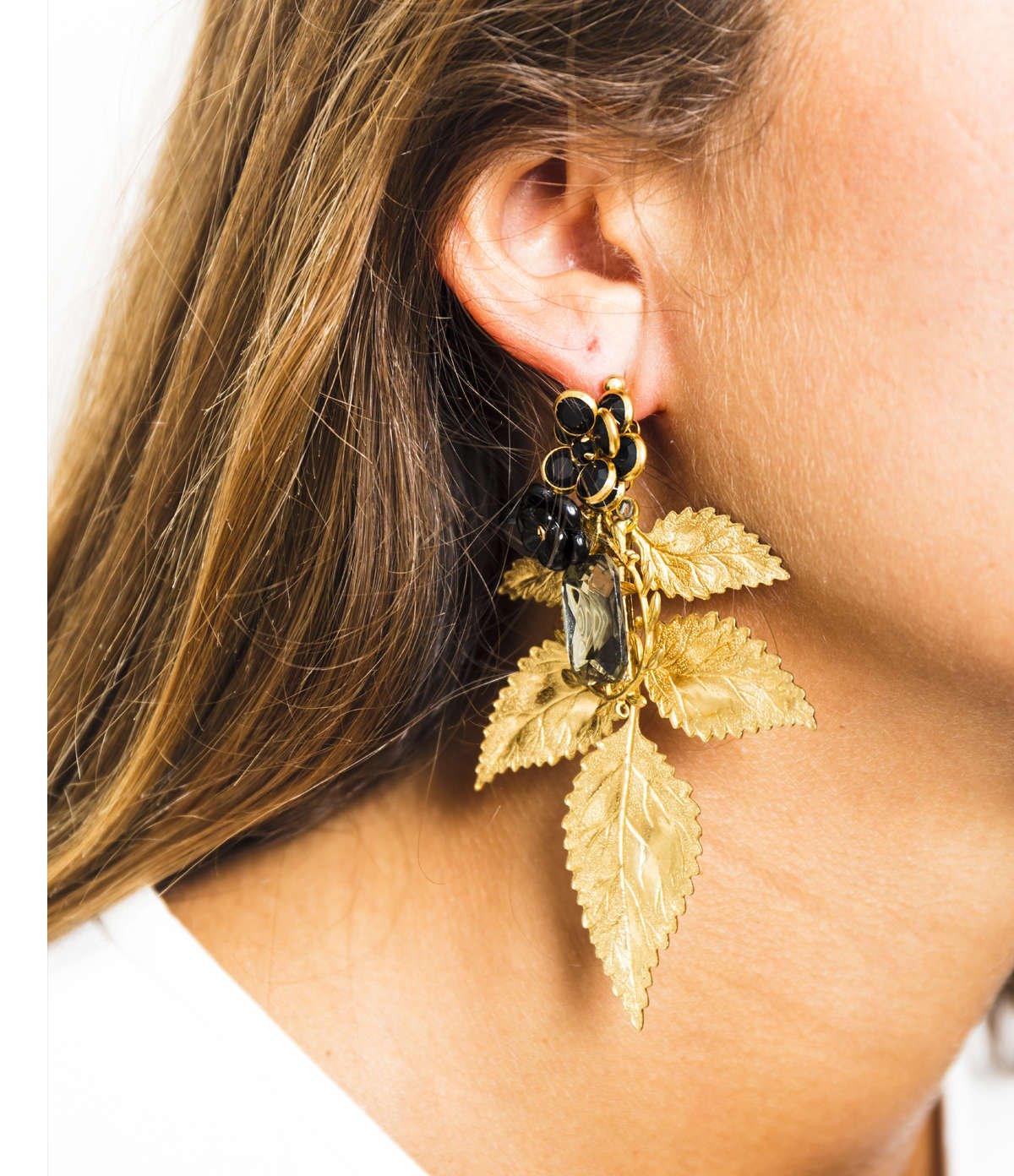 Camellia Leaf Earrings
