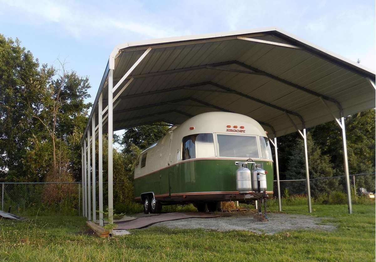 Diy Carport Canopy Learn How To Build A Carport Tent In An Afternoon Bootstrap Farmer