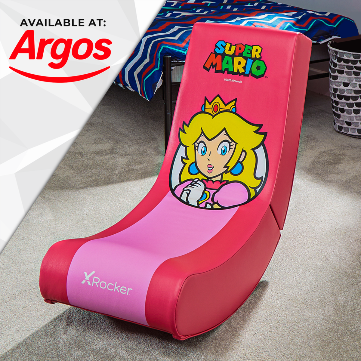 Nintendo Super Mario X Rocker Gaming Chair Floor Rocker Princess Peach Spotlight Edition available at Argos