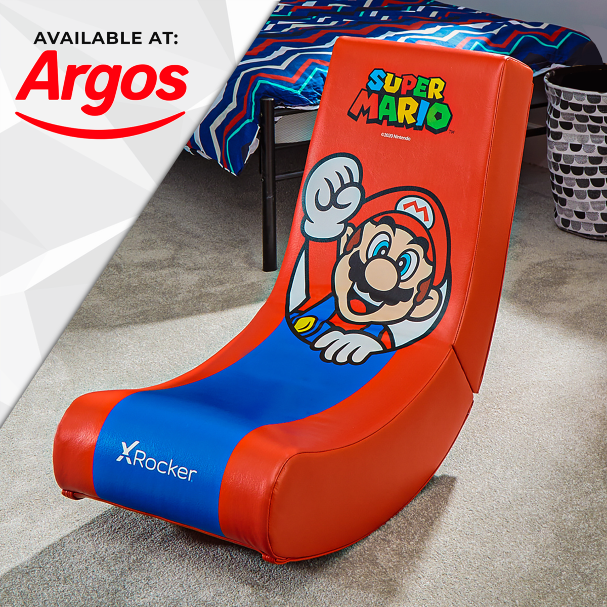 Nintendo Super Mario X Rocker Gaming Chair Floor Rocker- Mario Spotlight Edition available at Argos