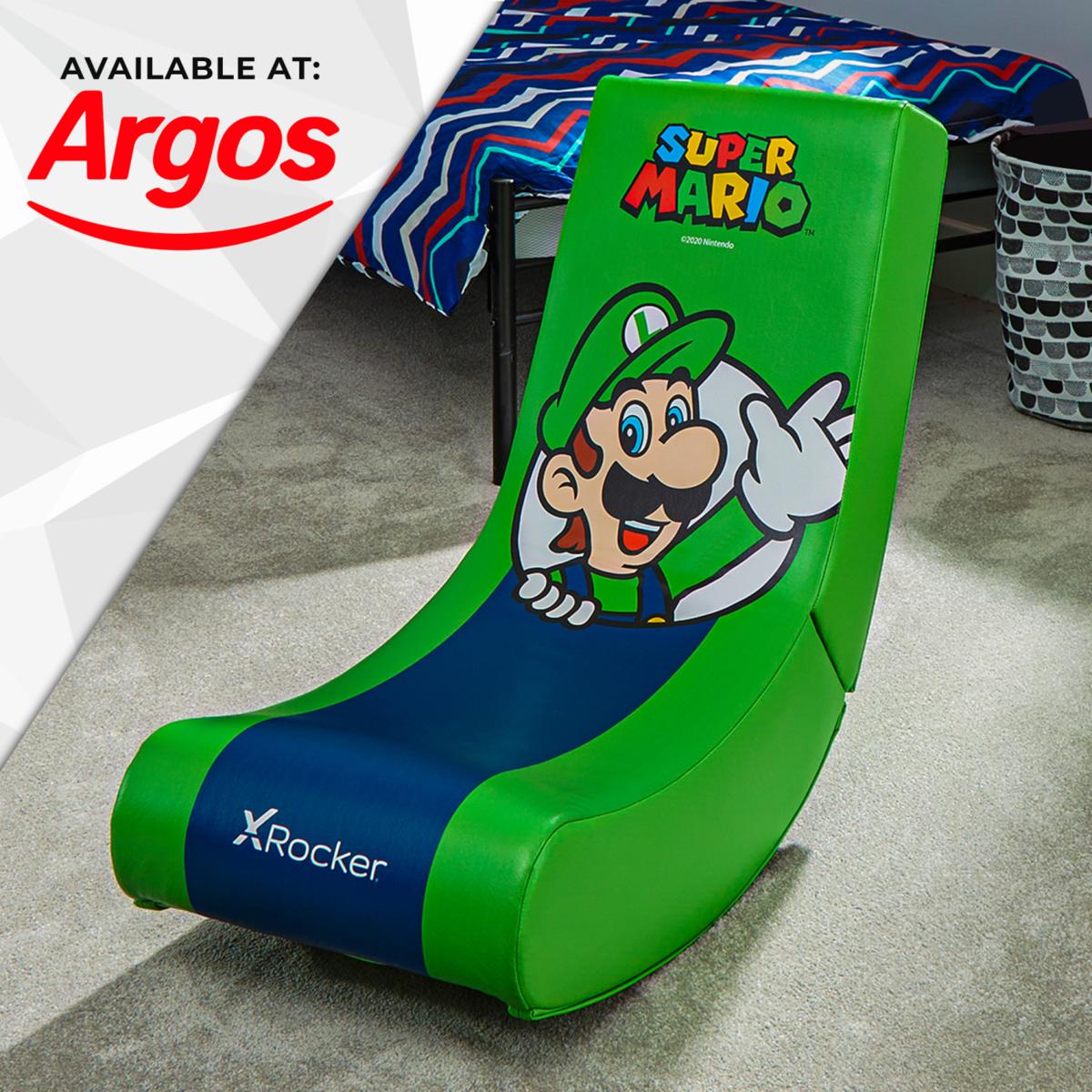 Nintendo Super Mario X Rocker Gaming Chair Floor Rocker- Luigi Spotlight Edition available at Argos