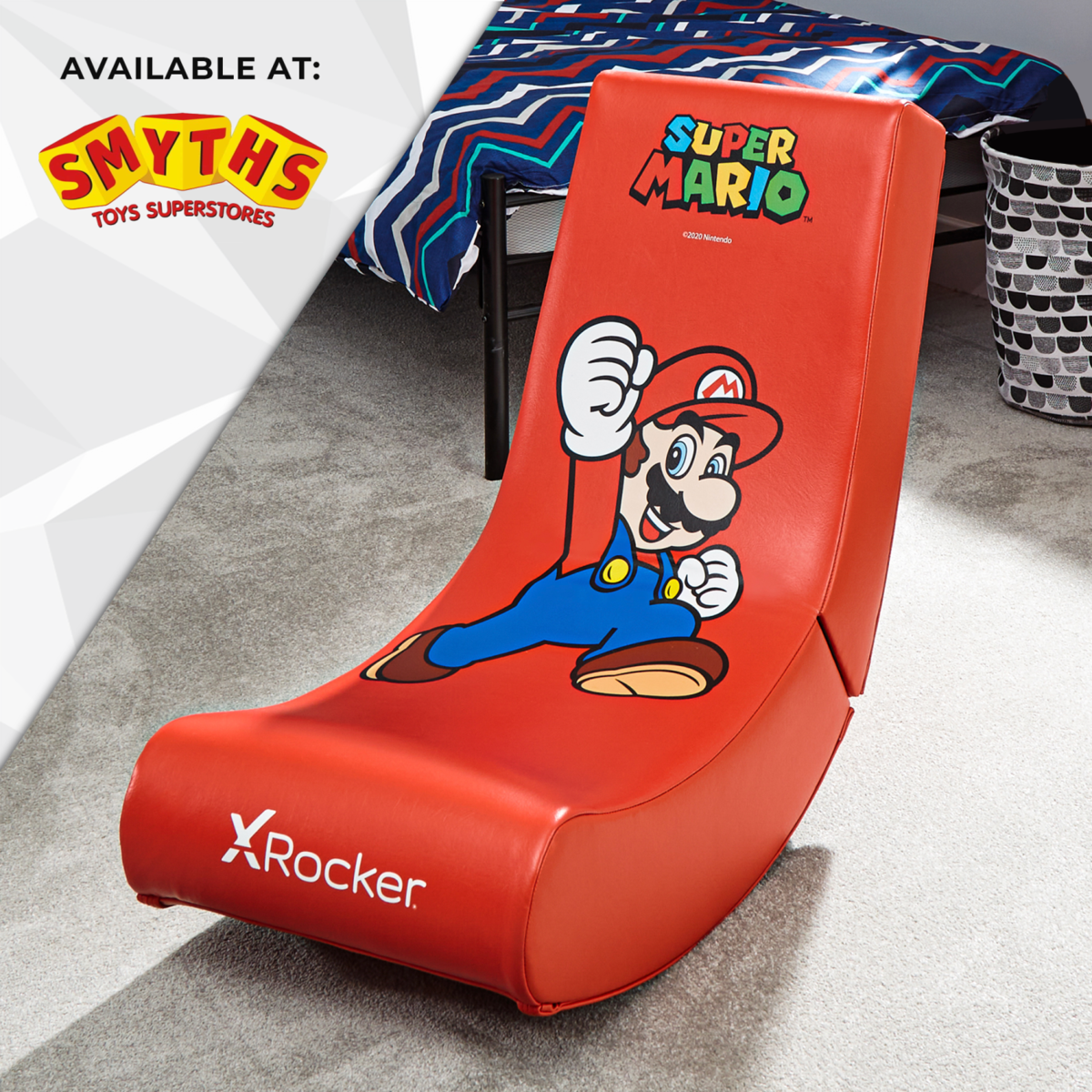 Nintendo Super Mario X Rocker Gaming Chair Floor Rocker- Mario Jump Edition available at Smyths Toys