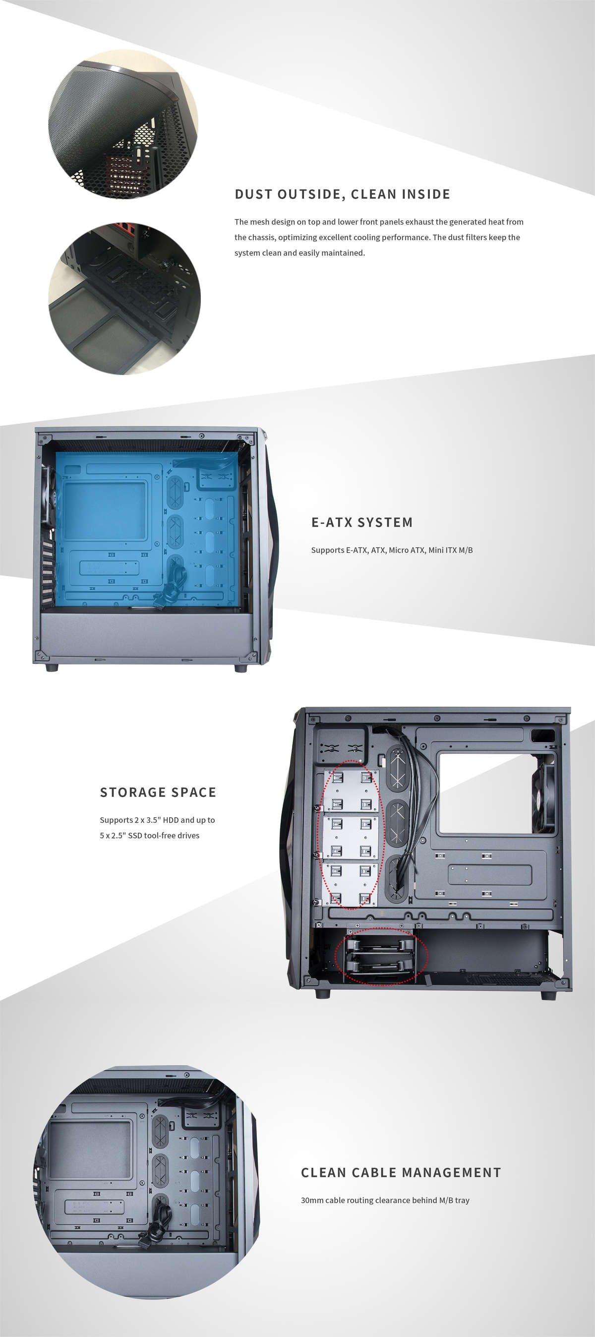 Apexgaming X1 E-ATX Mid Tower Case