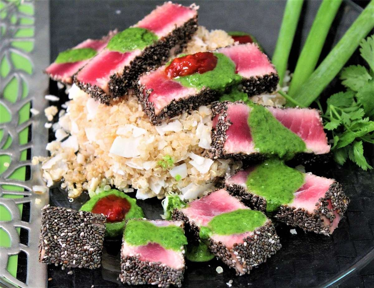 chia crusted ahi tuna