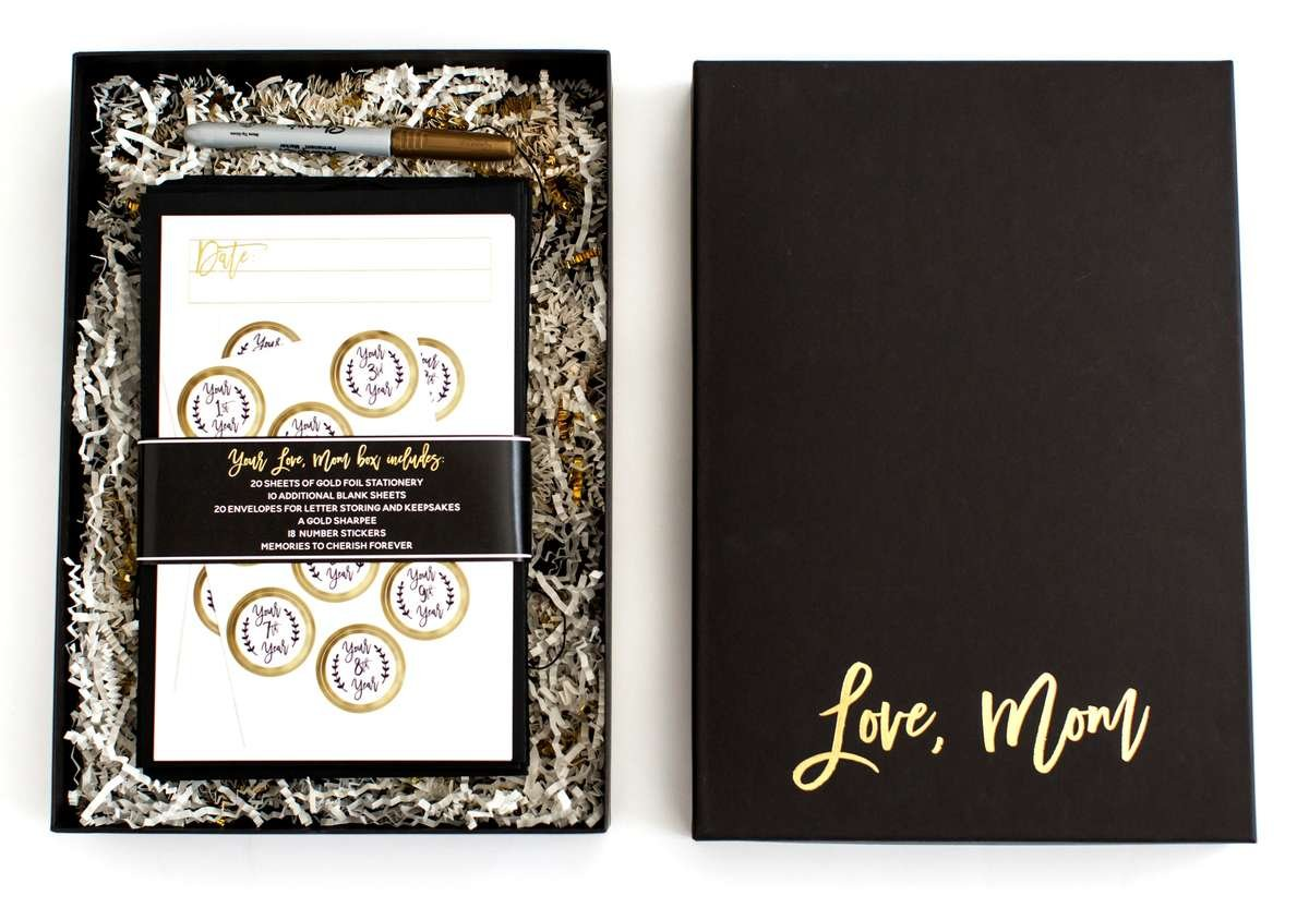 love, mom box,  baby shower gift