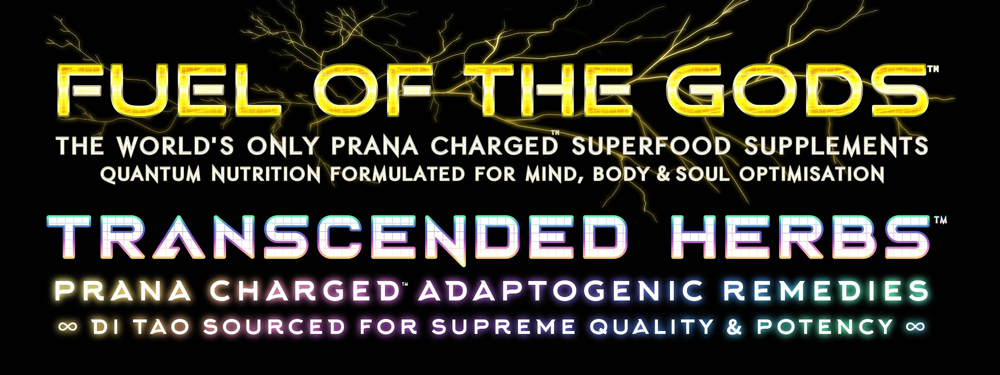 fuel of the gods & transcended herbs prana charged superfood supplements