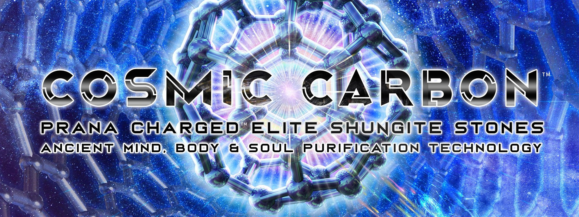 cosmic carbon prana charged elite Shungite water purification, emf protection root chakra c60 fullerene