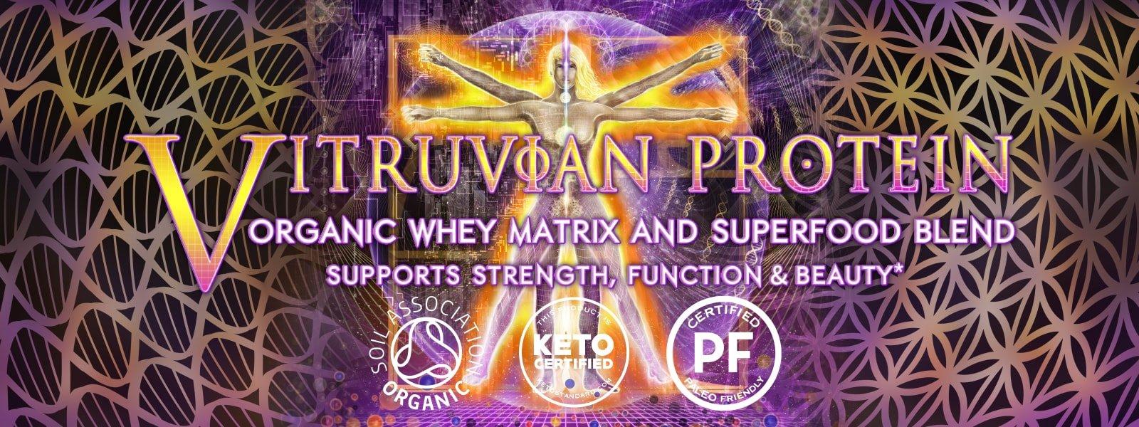 vitruvian protein artwork vitruvian man dna flower of life organic paleo friendly keto logos