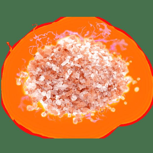 pink crystal salt electric hologram