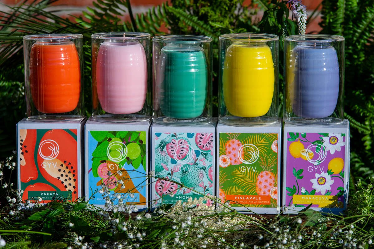 Agua Fresca inspired scented luxury candles