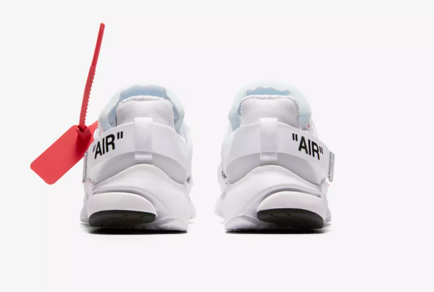 heel of NIKE AIR PRESTO X OFF WHITE 'THE TEN' WHITE CONE
