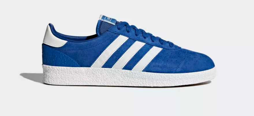 SIDE OF ADIDAS ORIGINALS MUNCHEN SUPER SPZL 'COLLEGIATE ROYAL'