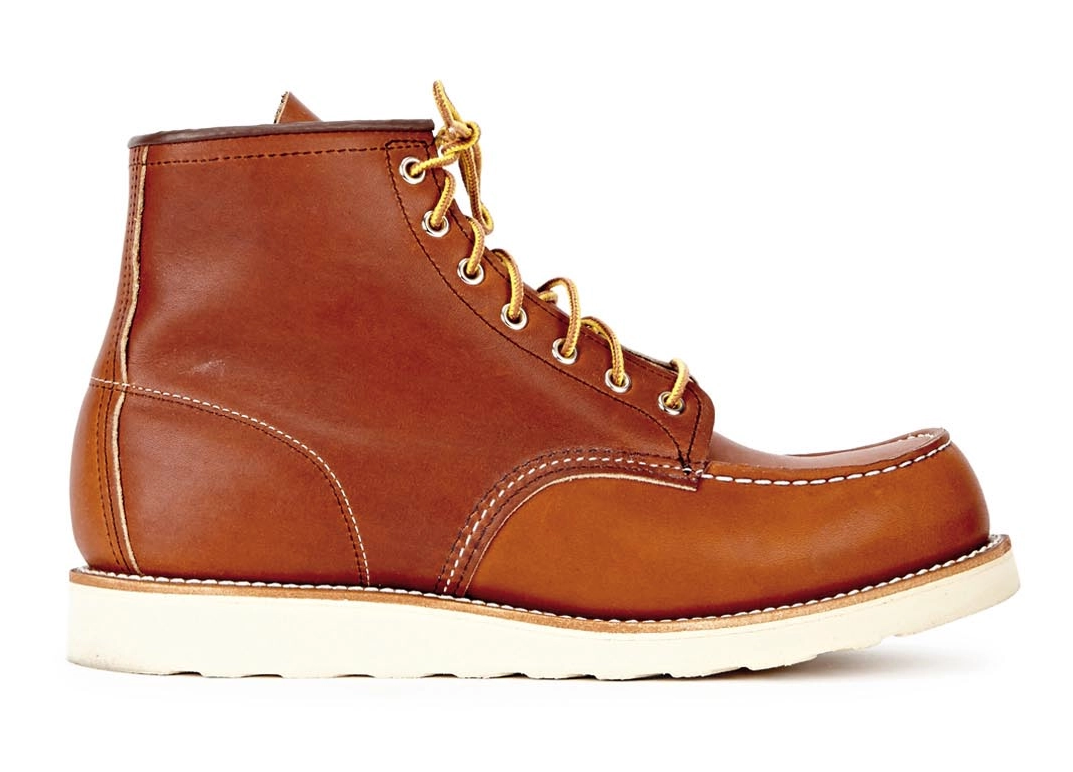 side view red wing classic moc chesnut