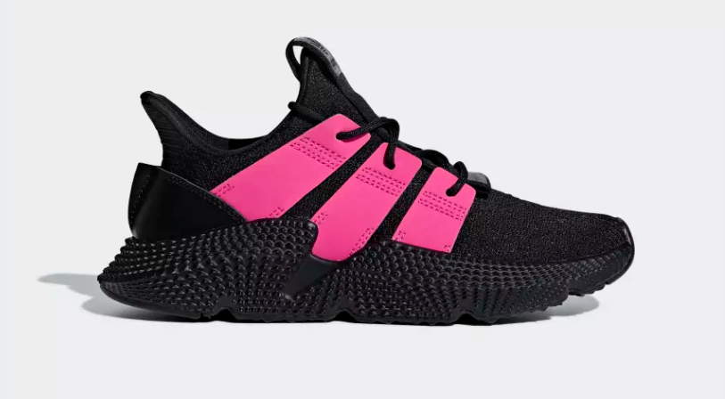 SIDE VIEW ADIDAS ORIGINALS PROPHERE CORE BLACK SHOCK PINK