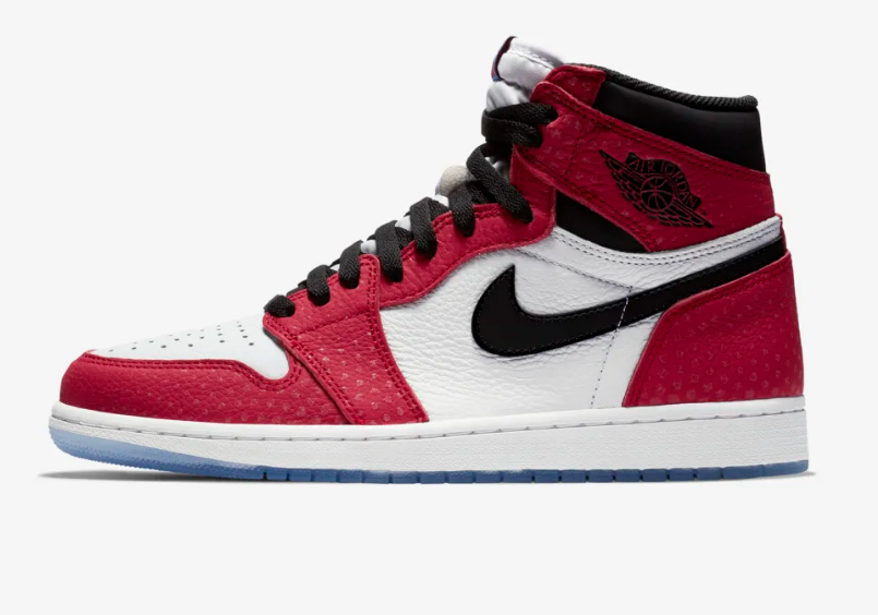 SIDE VIEW AIR JORDAN 1 RETRO HIGH 'SPIDER-VERSE'