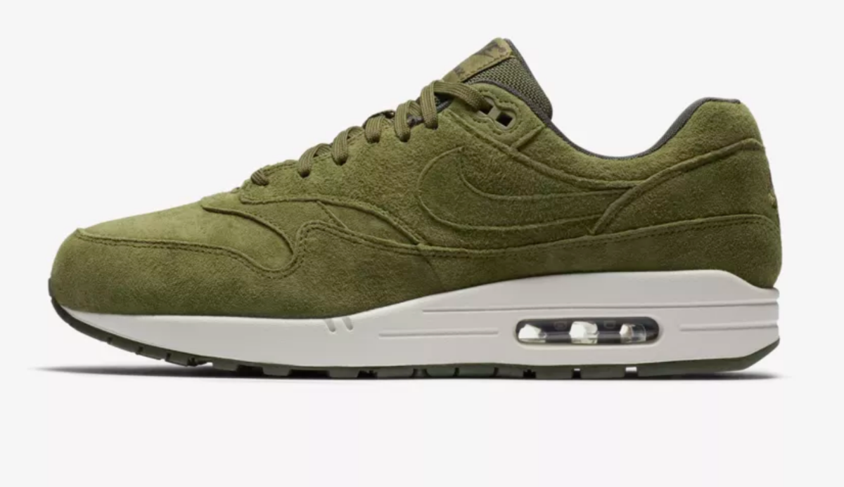 BUY NIKE AIR MAX 1 IN OLIVE CANVAS